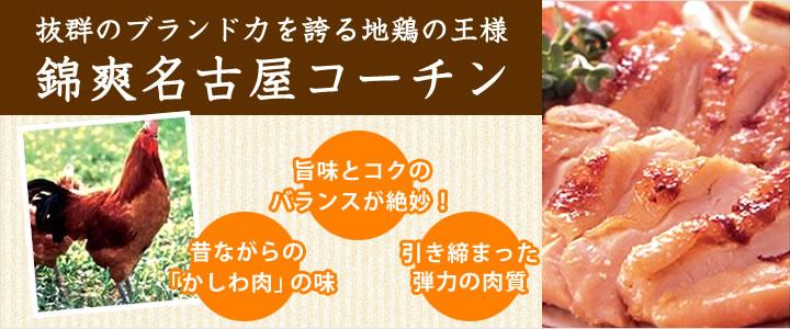 (チルド)錦爽名古屋コーチン正肉セット もも2枚 むね2枚 ささみ2本 ※内容量約800g